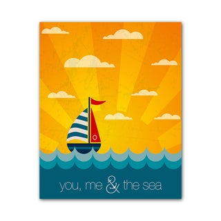 Beach Style Quote Print You and Me Colorful Printed on Metal