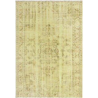 Ecarpetgallery Hand-knotted Color Transition Green Wool Rug (6'2 x 8'11)