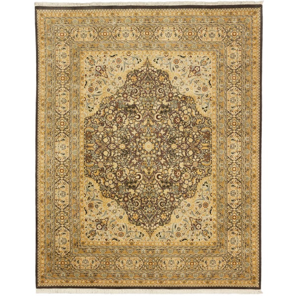 Shop Beige Wool Hand Knotted Oriental Persian Area Rug 6: Shop Ecarpetgallery Hand-knotted Pako Persian Beige And