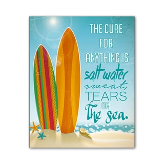 Beach Style Quote Print The Cure Colorful Printed on Metal