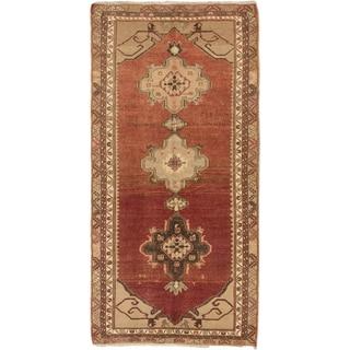 Ecarpetgallery Hand-knotted Konya Anatolian Brown Wool Rug (5'6 x 11'4)