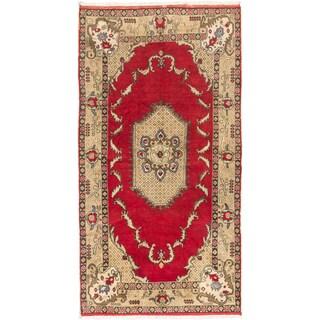Ecarpetgallery Hand-knotted Konya Anatolian Red Wool Rug (5'6 x 10'7)