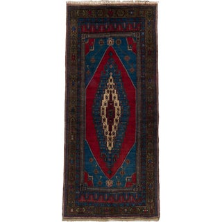 Ecarpetgallery Hand-knotted Anatolian Vintage Green and Red Wool Rug (5'3 x 11'7)