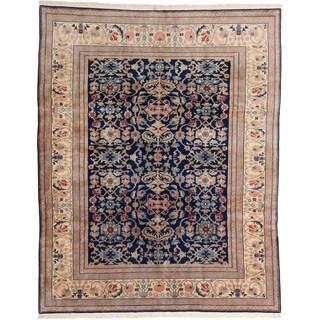 Ecarpetgallery Hand-knotted Keisari Blue Wool Rug (7'10 x 9'9)