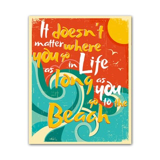 Beach Style Quote Print Doesn't Matter Colorful Printed on Metal