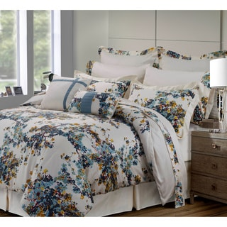 Casablanca Floral Print Cotton 12-piece Bed-in-a-Bag with Deep Pocket Sheet Set