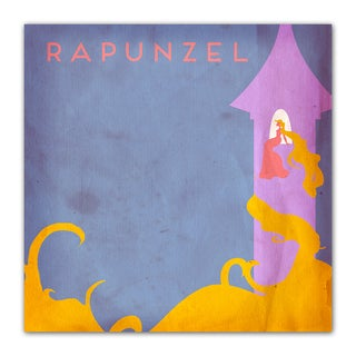 Rapunzel Fairy Tales 12x12 Kid's Room Printed on a Heavyweight Matte Poster