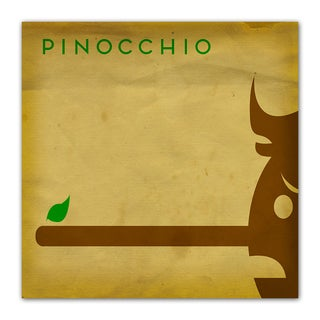 Pinochhio Fairy Tales 12x12 Kid's Room Printed on a Heavyweight Matte Poster
