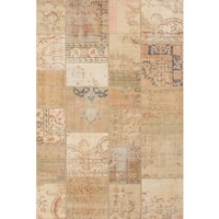 Ecarpetgallery Hand-knotted Sunwash Patch Beige Wool Rug (6'6 x 9'10)