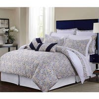 Fiji Multicolor Paisley Cotton Sateen 12-piece Bed in a Bag with Deep Pocket Sheet Set