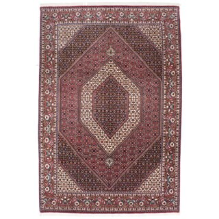 Ecarpetgallery Hand-knotted Persian Bijar Blue and Red Wool Rug (6'10 x 10'1)