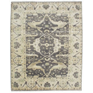 Ecarpetgallery Hand-knotted Royal Ushak Grey Wool Rug (7'10 x 10'1)