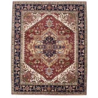 Ecarpetgallery Hand-knotted Serapi Heritage Orange Wool Rug (8' x 10'3)