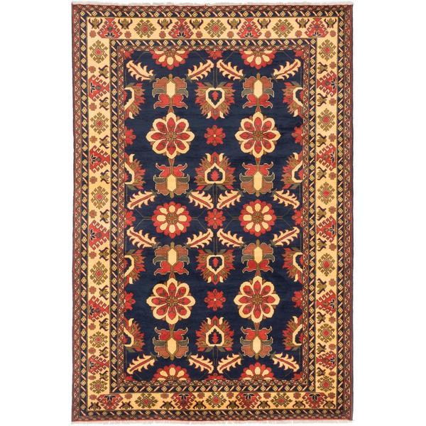 Ecarpetgallery Hand-knotted Finest Kargahi Blue Wool Rug - 6'8 x 10'