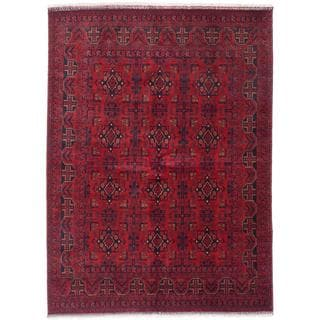Ecarpetgallery Hand-knotted Finest Khal Mohammadi Red Wool Rug (5'10 x 7'11)