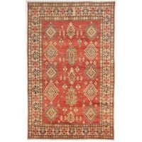 Ecarpetgallery Hand-knotted Finest Gazni Brown Wool Rug (6'7 x 10'6)