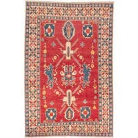 Ecarpetgallery Hand-knotted Finest Gazni Red Wool Rug (6'8 x 10'1)