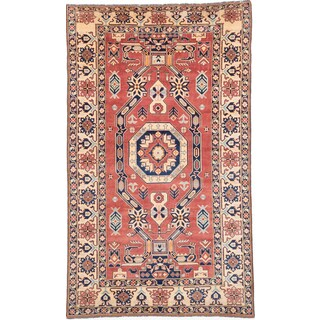 Ecarpetgallery Hand-knotted Finest Gazni Brown Wool Rug (6'10 x 11'8)