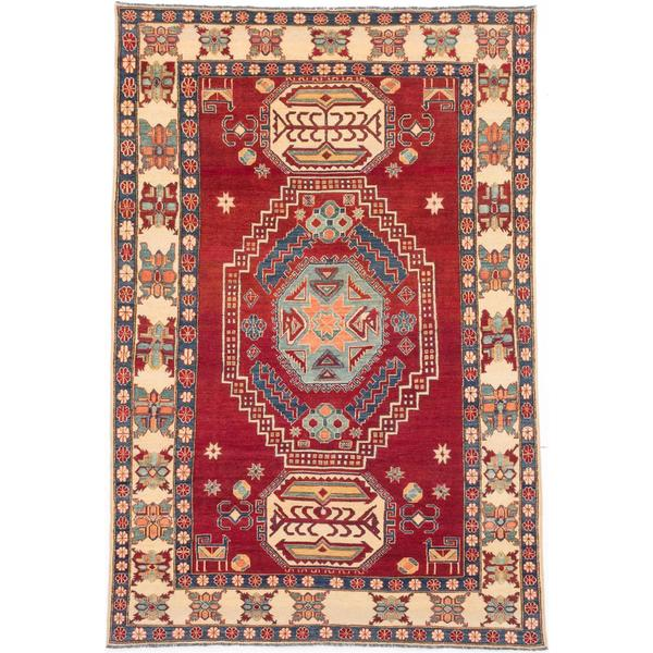 Ecarpetgallery Hand-knotted Finest Gazni Red Wool Rug (7' x 10'5)