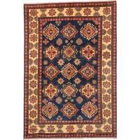Ecarpetgallery Hand-knotted Finest Kargahi Blue Wool Rug (6'11 x 10')
