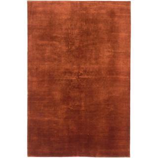 Ecarpetgallery Hand-knotted Persian Kashkuli Gabbeh Orange Wool Rug (6'8 x 10'1)