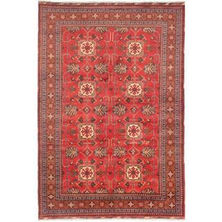 Ecarpetgallery Hand-knotted Finest Kargahi Red Wool Rug (6'11 x 10'2)
