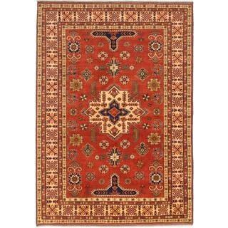 Ecarpetgallery Hand-knotted Finest Kargahi Brown Wool Rug (7'1 x 10')
