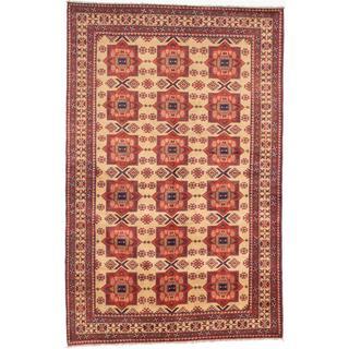 Ecarpetgallery Hand-knotted Finest Kargahi Beige Wool Rug (6'9 x 10'5)