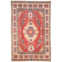 Ecarpetgallery Hand-knotted Finest Gazni Red Wool Rug (6'10 x 10'2)