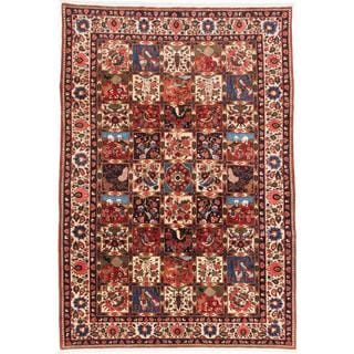 Ecarpetgallery Hand-knotted Persian Bakhtiar Beige and Red Wool Rug (6'11 x 10')