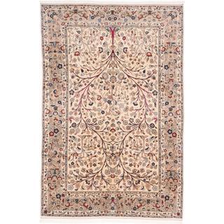 Ecarpetgallery Hand-knotted Persian Kashan Beige Wool Rug (6'8 x 10')