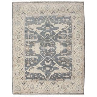 Ecarpetgallery Hand-knotted Royal Ushak Grey Wool Rug (7'11 x 10'3)