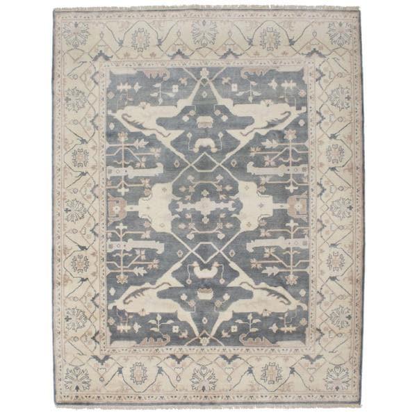 Ecarpetgallery Hand-knotted Royal Ushak Grey Wool Rug (7'11 x 10'3)