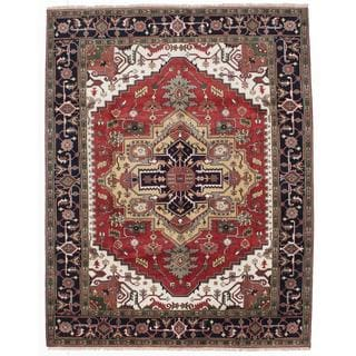 Ecarpetgallery Hand-knotted Serapi Heritage Brown Wool Rug (8' x 10'4)