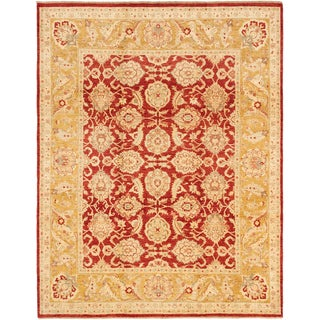 Ecarpetgallery Hand-knotted Chobi Finest Brown and Orange Wool Rug (8' x 10'2)