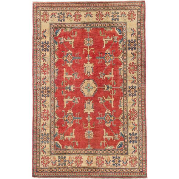 Ecarpetgallery Hand-knotted Finest Gazni Red and Yellow Wool Rug (6'11 x 10'9)