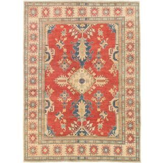 Ecarpetgallery Hand-knotted Uzbek Gazni Red Wool Rug (7'10 x 10'10)