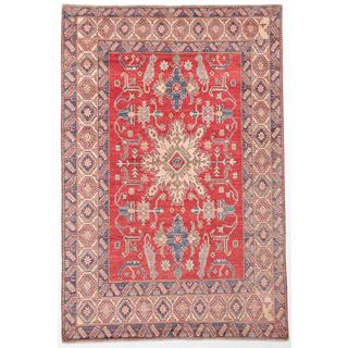 Ecarpetgallery Hand-knotted Finest Gazni Red Wool Rug (6'8 x 10')