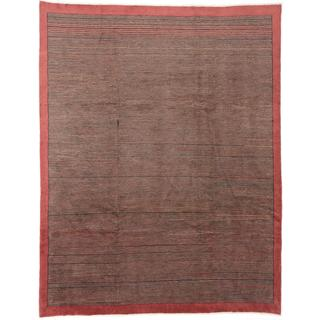 Ecarpetgallery Hand-knotted Peshawar Ziegler Brown Wool Rug (8' x 10'2)
