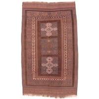 Ecarpetgallery Hand-knotted Tajik Caucasian Beige and Brown Wool Rug (5'5 x 9'2)