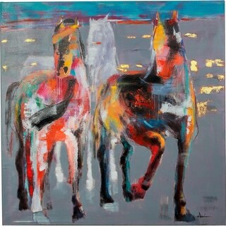 Amazing Horses Galloping Canvas Artwork