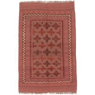 Ecarpetgallery Hand-knotted Tajik Caucasian Brown Wool Rug (5'4 x 8'4)