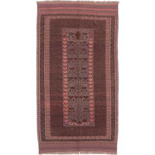 Ecarpetgallery Hand-knotted Tajik Caucasian Brown and Grey Wool Rug - 5' x 9'5