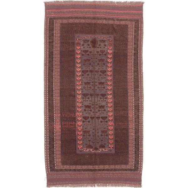 Ecarpetgallery Hand-knotted Tajik Caucasian Brown and Grey Wool Rug (5' x 9'5) - 5' x 9'5