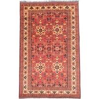 Ecarpetgallery Hand-knotted Finest Kargahi Brown Wool Rug (6'4 x 9'11)
