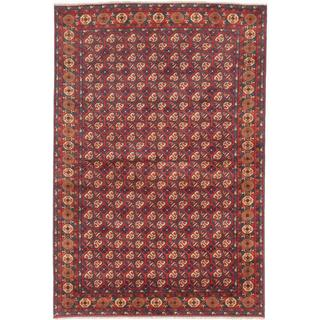 Ecarpetgallery Hand-knotted Finest Kargahi Red Wool Rug (6'8 x 9'10)