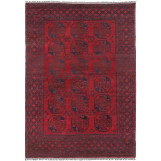 Ecarpetgallery Hand-knotted Khal Mohammadi Black and Red Wool Rug (6'6 x 9'1)