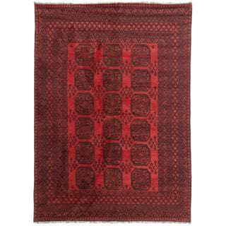 Ecarpetgallery Hand-knotted Khal Mohammadi Black and Red Wool Rug (6'7 x 9')