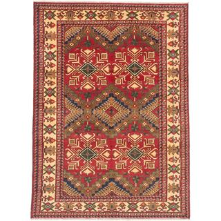 Ecarpetgallery Hand-knotted Finest Kargahi Red Wool Rug (6'9 x 9'4)
