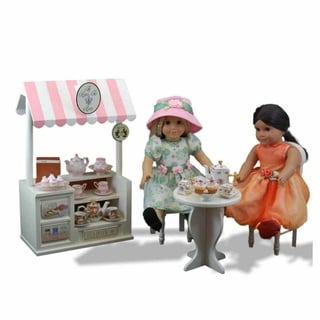 The Queen's Treasures American Style Wooden Cafe Table & 2 Chairs Doll Furniture Set